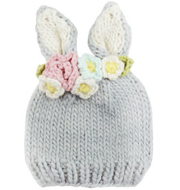 Blueberry Hill Knit Hat - Bunny w/ flower