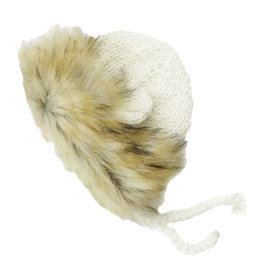 Blueberry Hill Knit Bonnet - Lion Cream