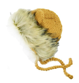 Blueberry Hill Knit Bonnet - Lion Mustard