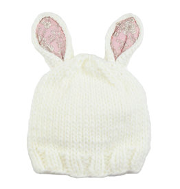Blueberry Hill Knit Hat - Bunny Pink/White