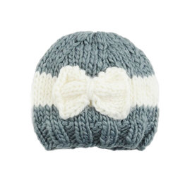 Blueberry Hill Knit Hat - Sabrina Bow 0-3m
