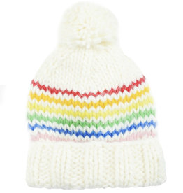 Blueberry Hill Knit Hat - Rainbow/Cream