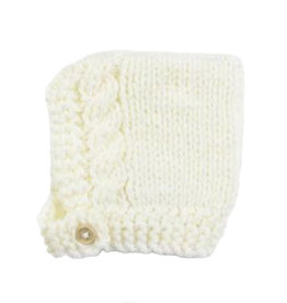 Blueberry Hill Knit Hat - Cream Button