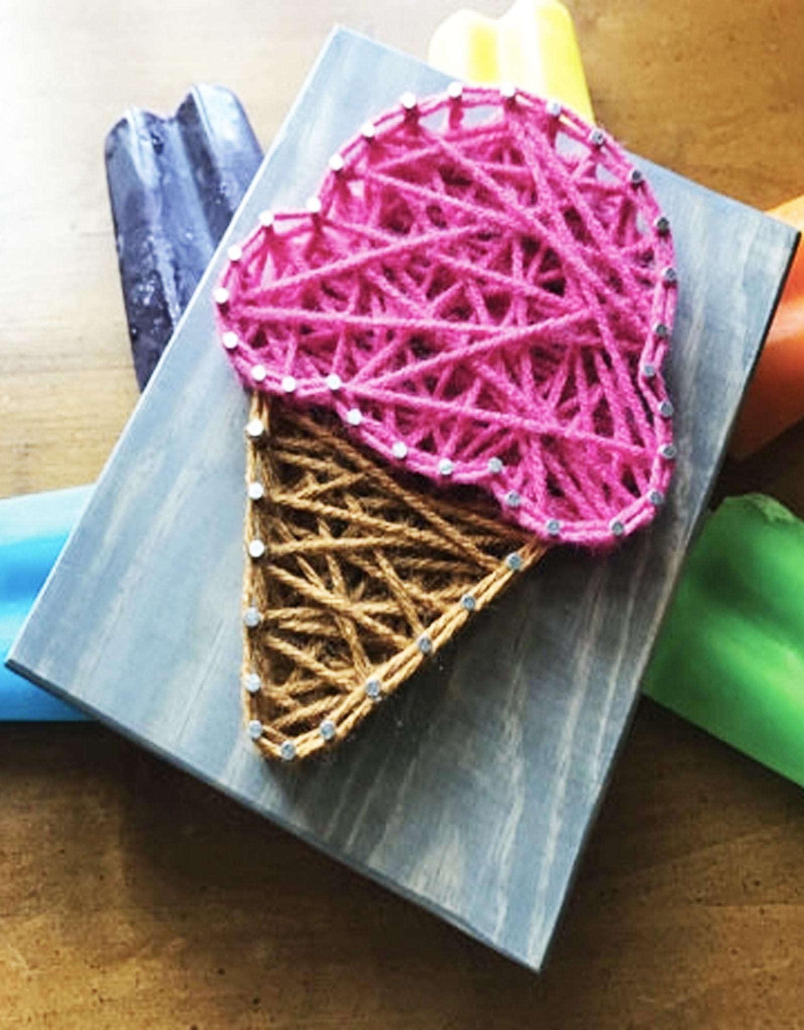 Strung By Shawna String Art Kit -  Ice Cream