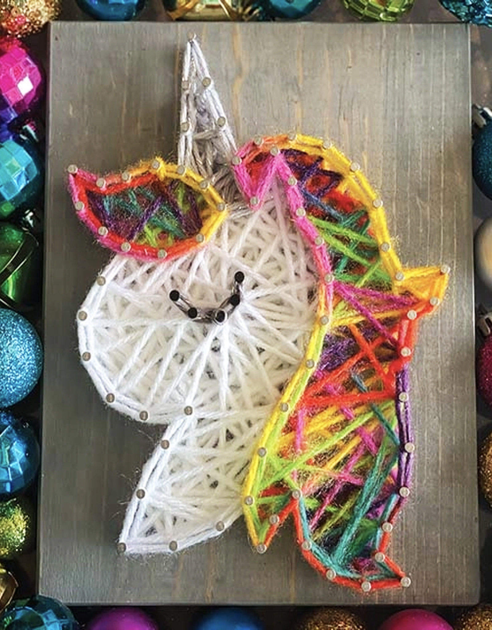 Strung By Shawna String Art Kit - Rainbow Unicorn