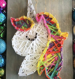 Strung By Shawna String Art Kit - Rainbow Unicorn