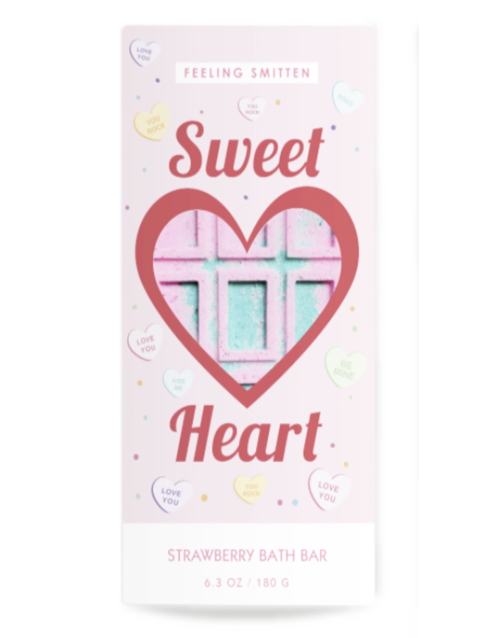 Feeling Smitten Valentine's Sweet Heart Rainbow Bath Bar