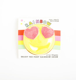 Feeling Smitten Fun + Fruity Rainbow Emoji Bath Bomb