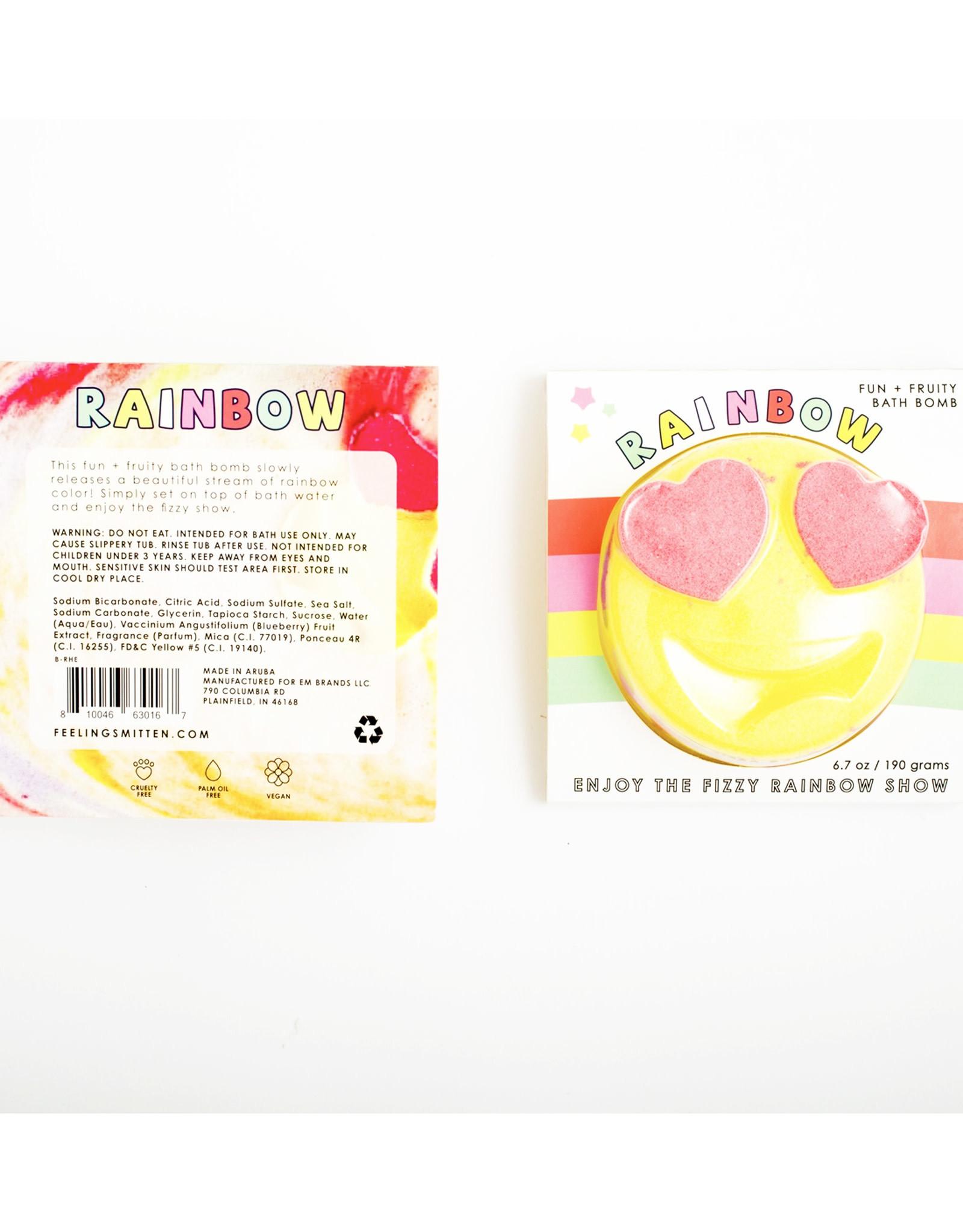 Feeling Smitten Fun + Fruity Rainbow Emoji Bath Bomb