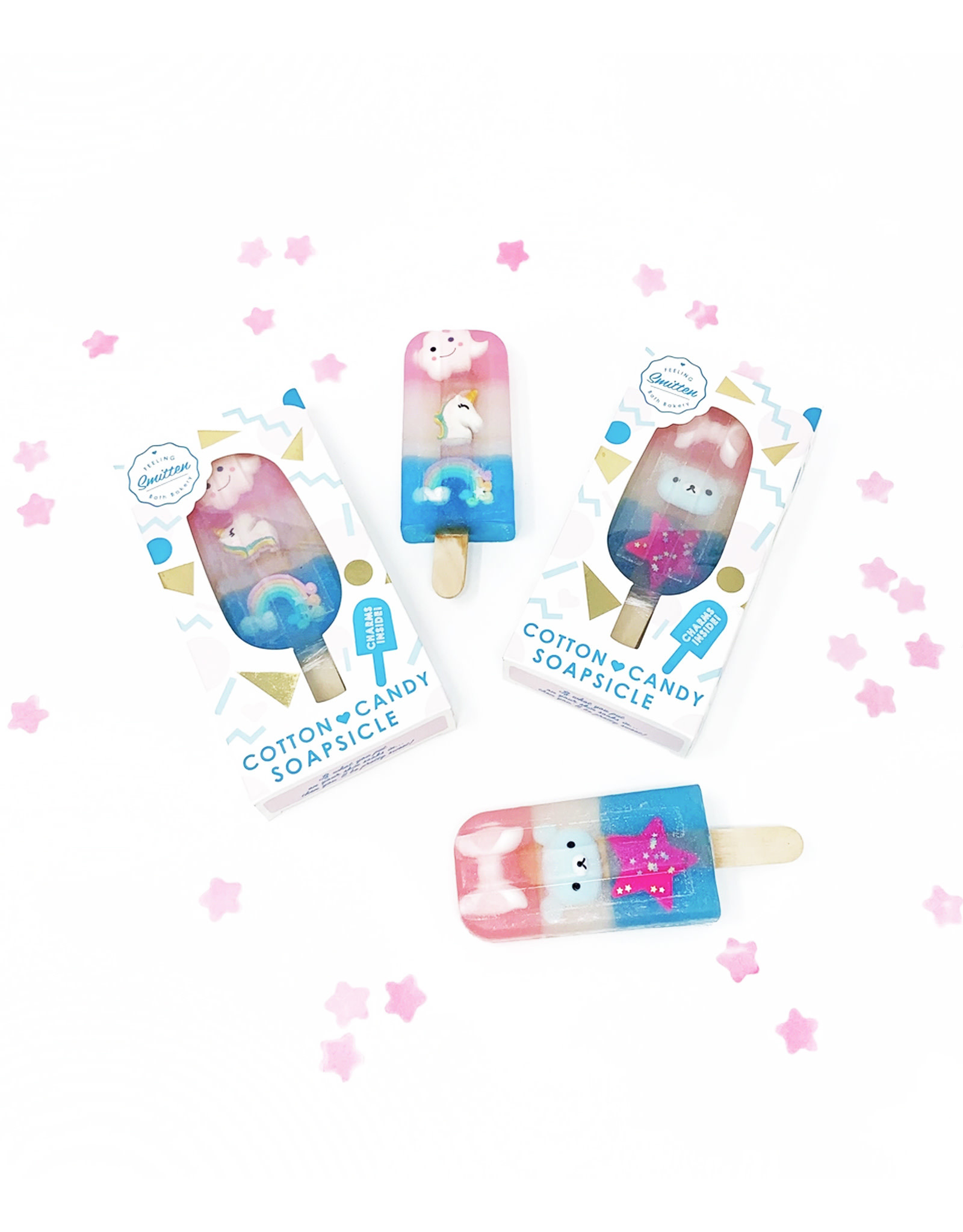 Feeling Smitten Cotton Candy Soapsicle w/ Charm Trio