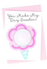Feeling Smitten You Make My Day Sweeter Bath Fizzy Greeting Card