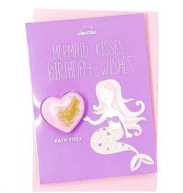 Feeling Smitten Mermaid Kisses Birthday Wishes Bath Card