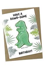 Feeling Smitten Have a Rawr-some Birthday! Bath Card