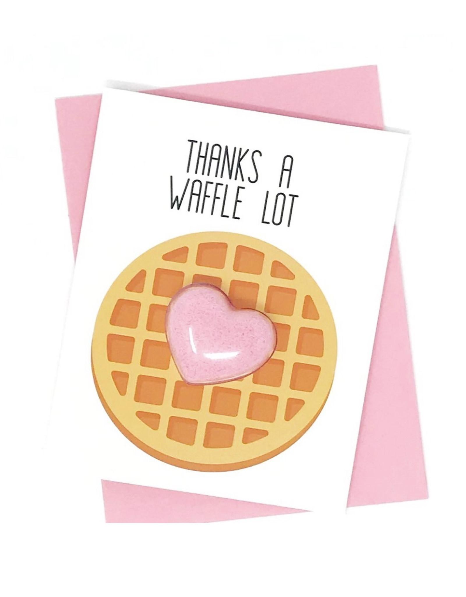Feeling Smitten Thanks a Waffle Lot Bath Card