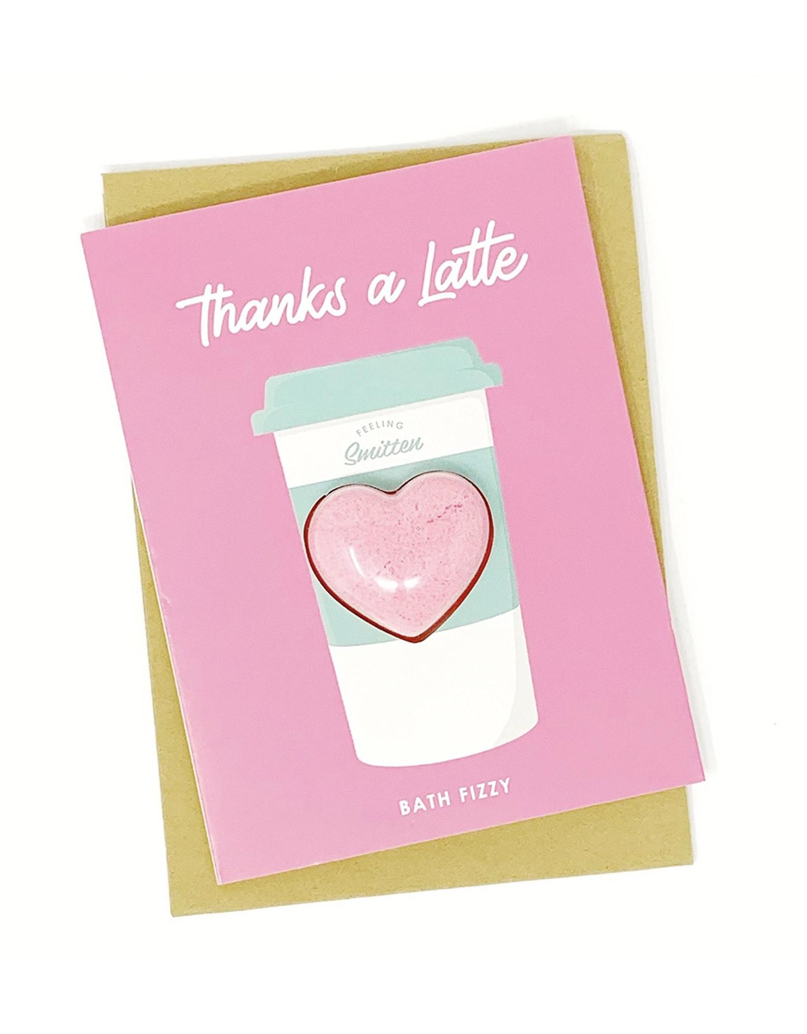Feeling Smitten Thanks a Latte Bath Card