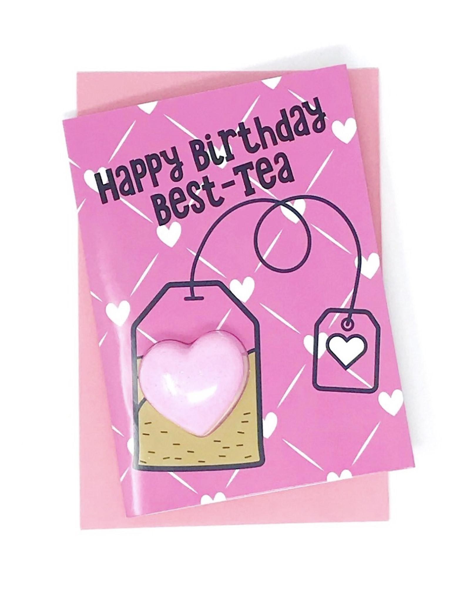 Feeling Smitten Happy Birthday Best-Tea Bath Card