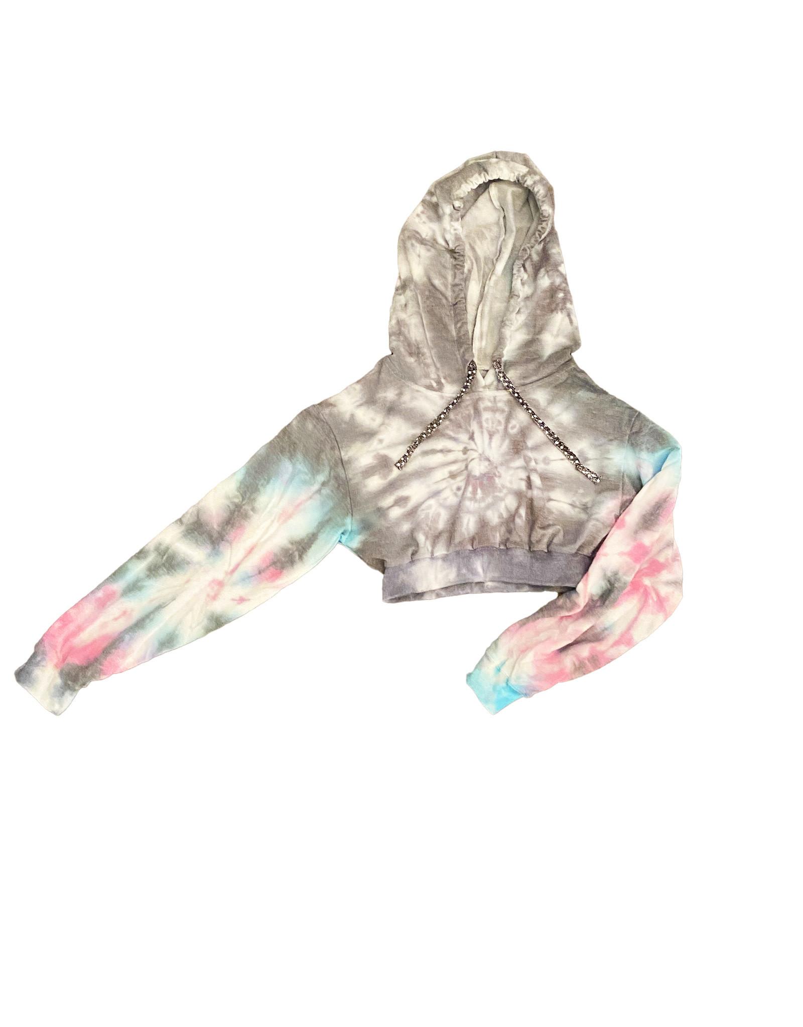 cocoandesti Tie Dye Crop Hoodie