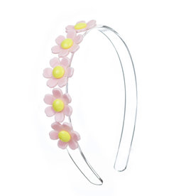 Lillies & Roses Daisy Centipede Headband- Light Pink