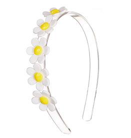 Lillies & Roses Daisy Centipede Headband- White