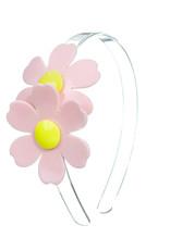 Lillies & Roses Double Daisy Light Pink Clear Headband