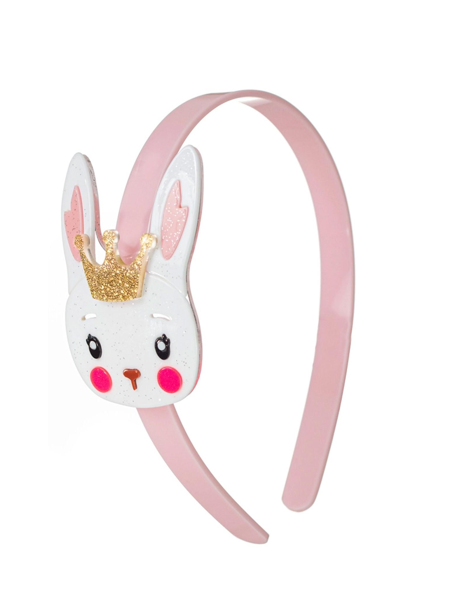 Lillies & Roses White Bunny w/ Crown Headband