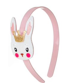 Lillies & Roses White Bunny w/ Crown Headband