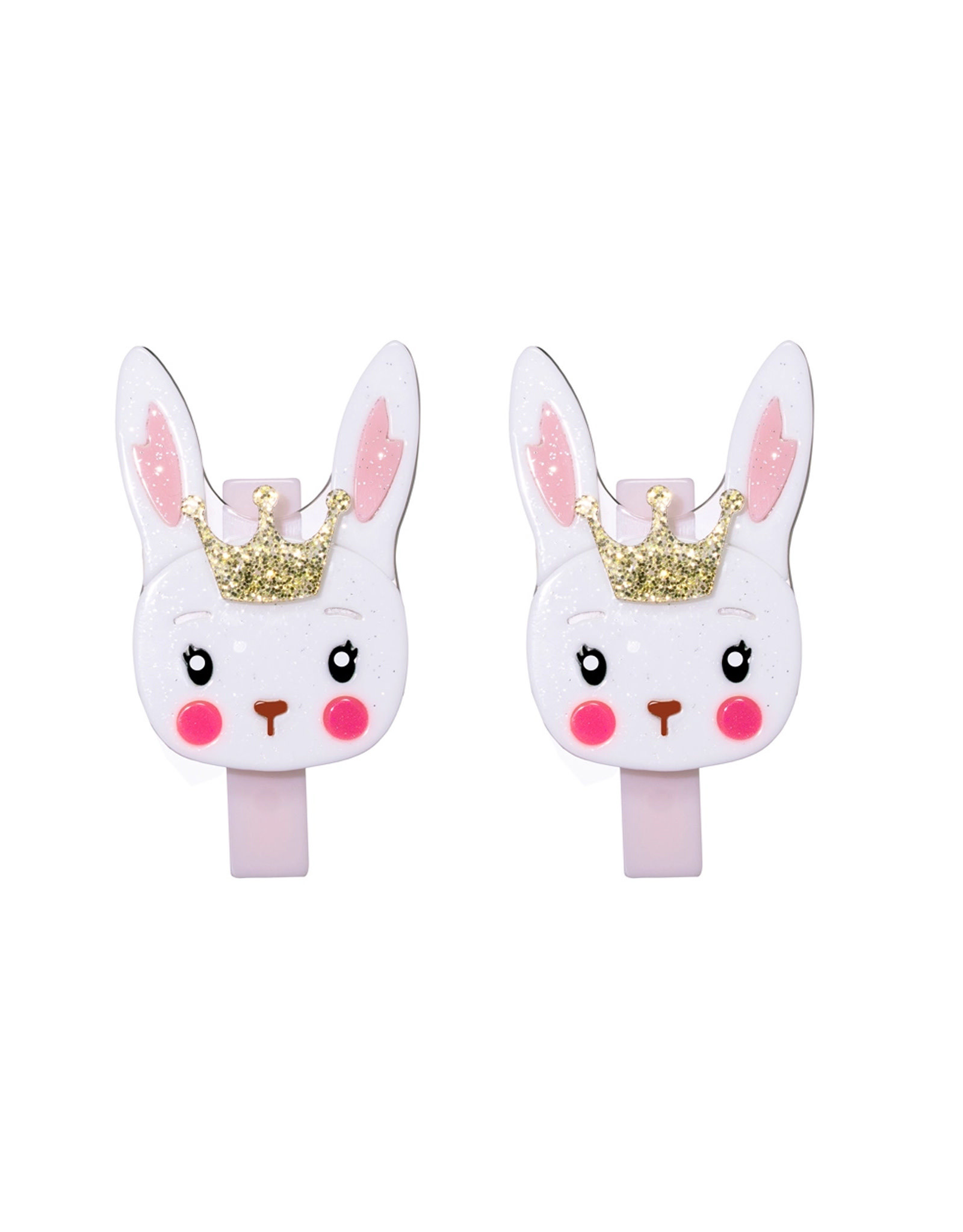 Lillies & Roses Cute White Bunny w/ Crown Alligator