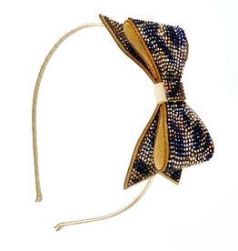 Bari Lynn Bari Lynn Crystal Bow Tiger Print Headband