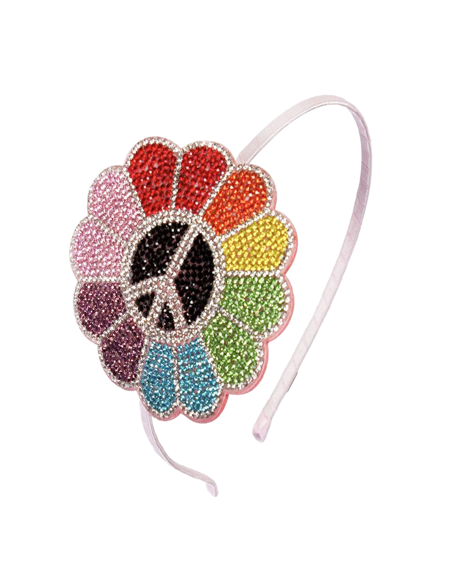 Bari Lynn Bari Lynn Rainbow Peace Flower Crystal Headband