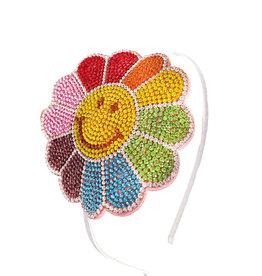 Bari Lynn Rainbow Happy Flower Headband