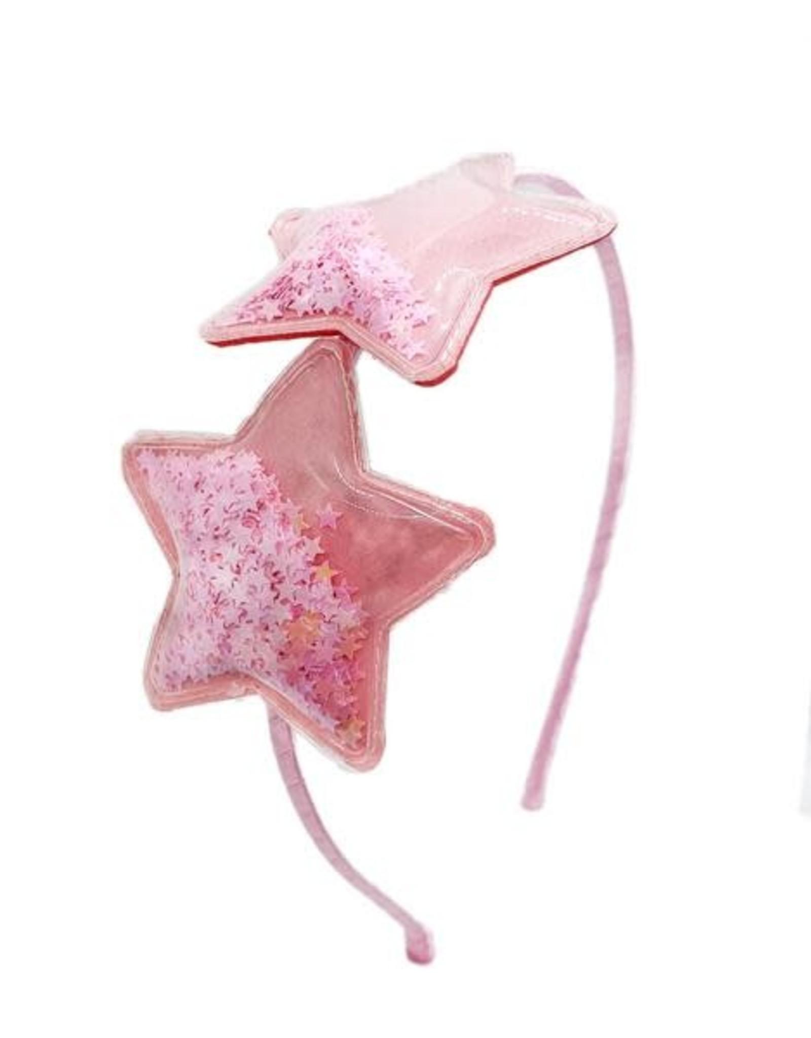 Bari Lynn Double Confetti Star Headband-Pink