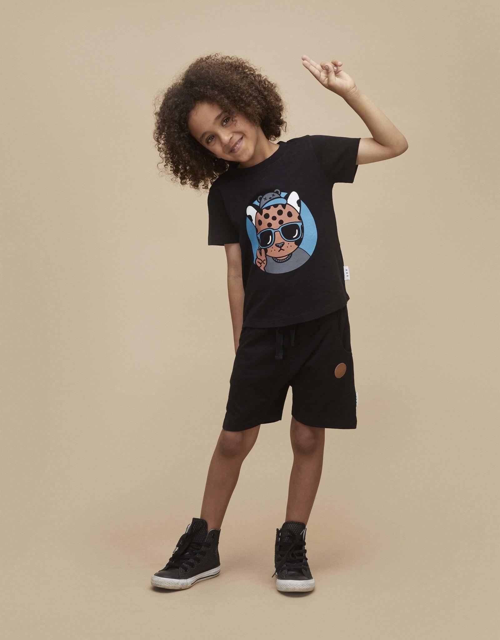 Huxbaby Black Slouch Short