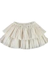 Molo Bianca Metallic Stripe Skirt