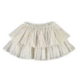 Molo Bianca Metallic Stripe Skirt