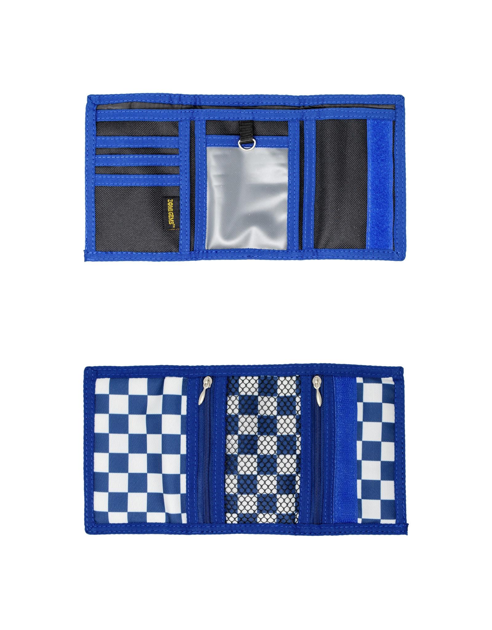 Tiny Treats & Zomi Gems Boys Checkered Blue Wallet