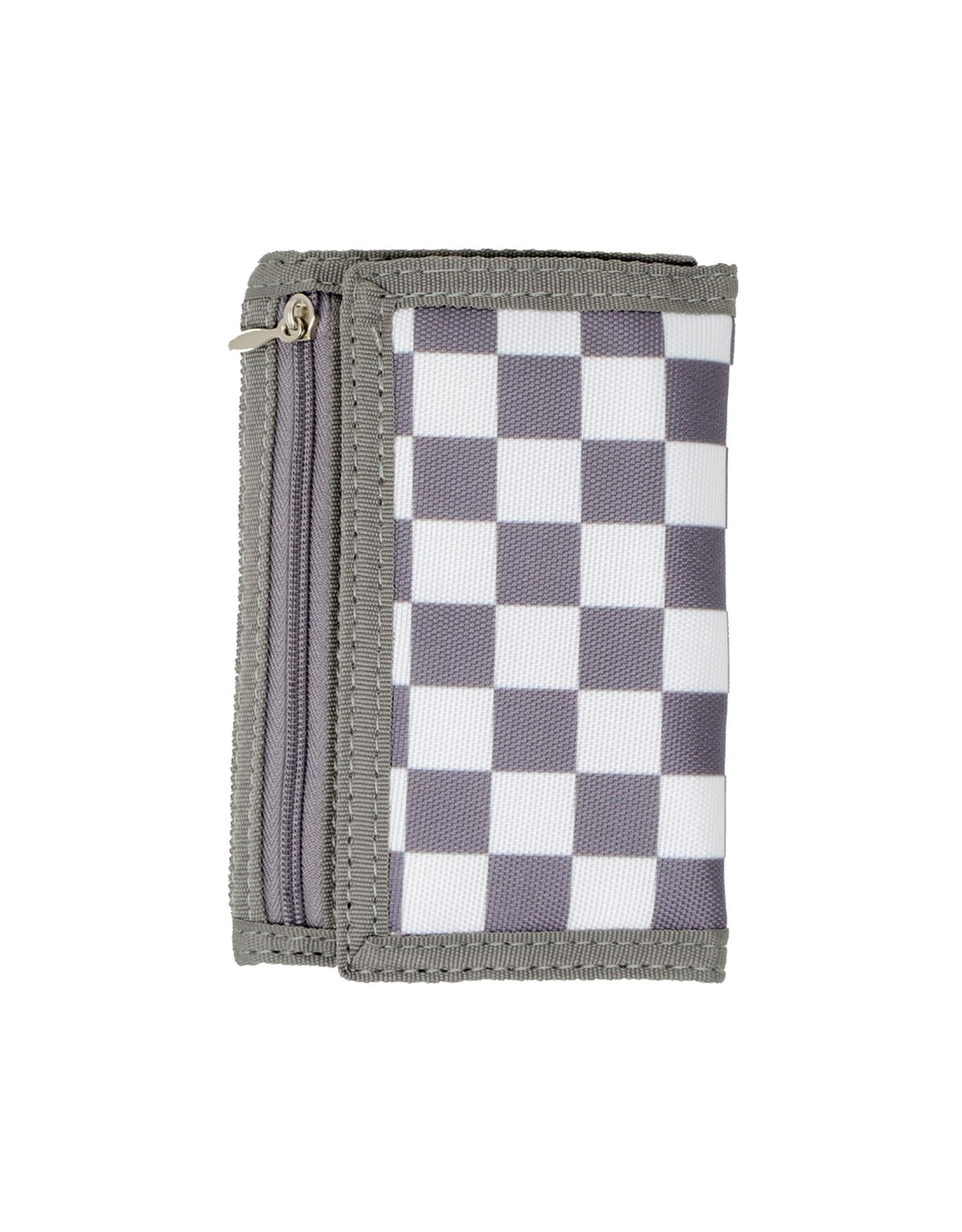Tiny Treats & Zomi Gems Boys Checkered Grey Wallet