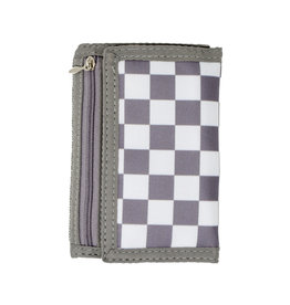 Tiny Treats & Zomi Gems Boys Checkered Grey Wallet
