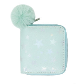 Tiny Treats & Zomi Gems Shiny Star Kids Wallet Green