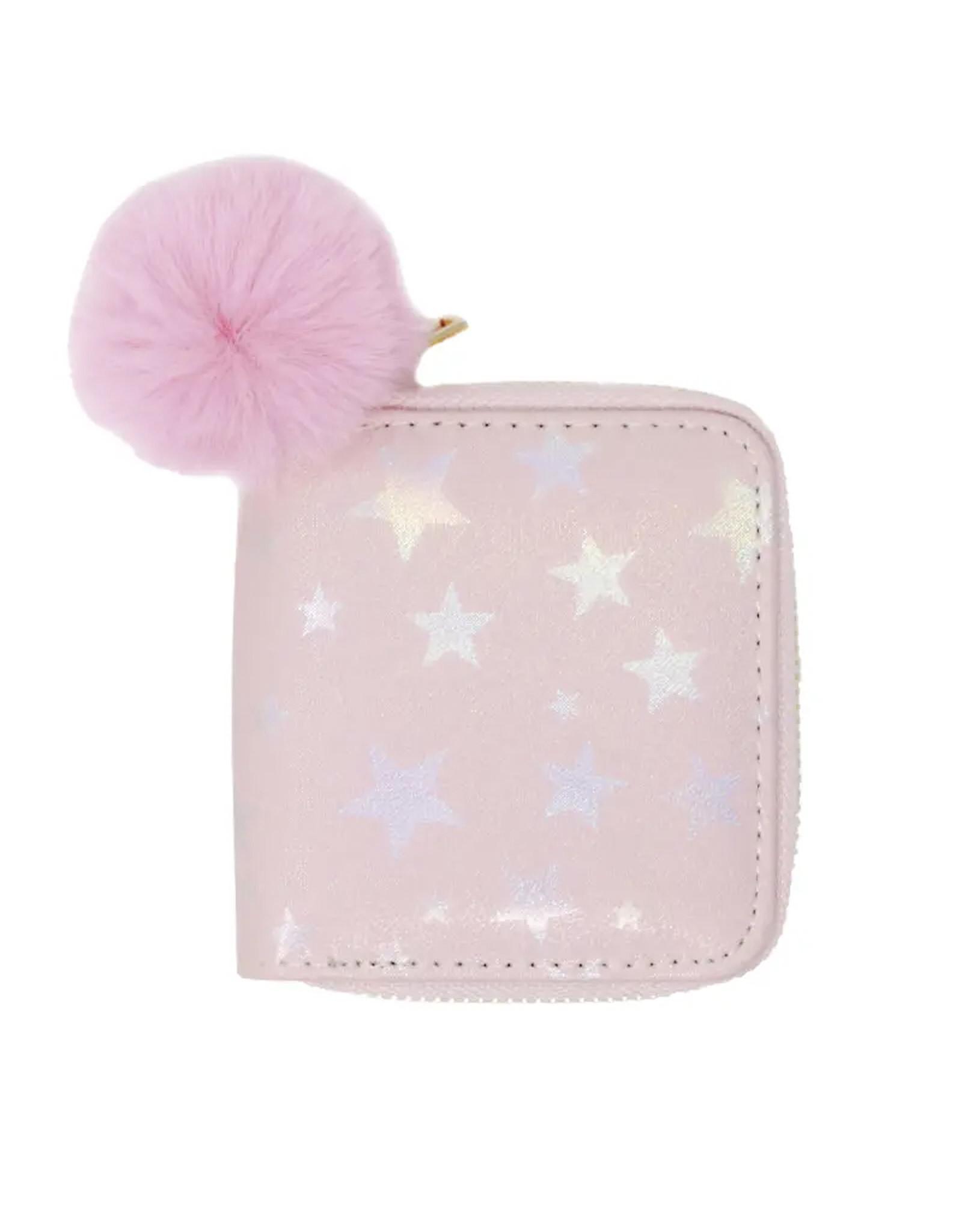 Tiny Treats & Zomi Gems Shiny Star Kids Wallet Pink