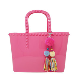 Tiny Treats & Zomi Gems Jumbo Jelly Tote Bag Hot Pink
