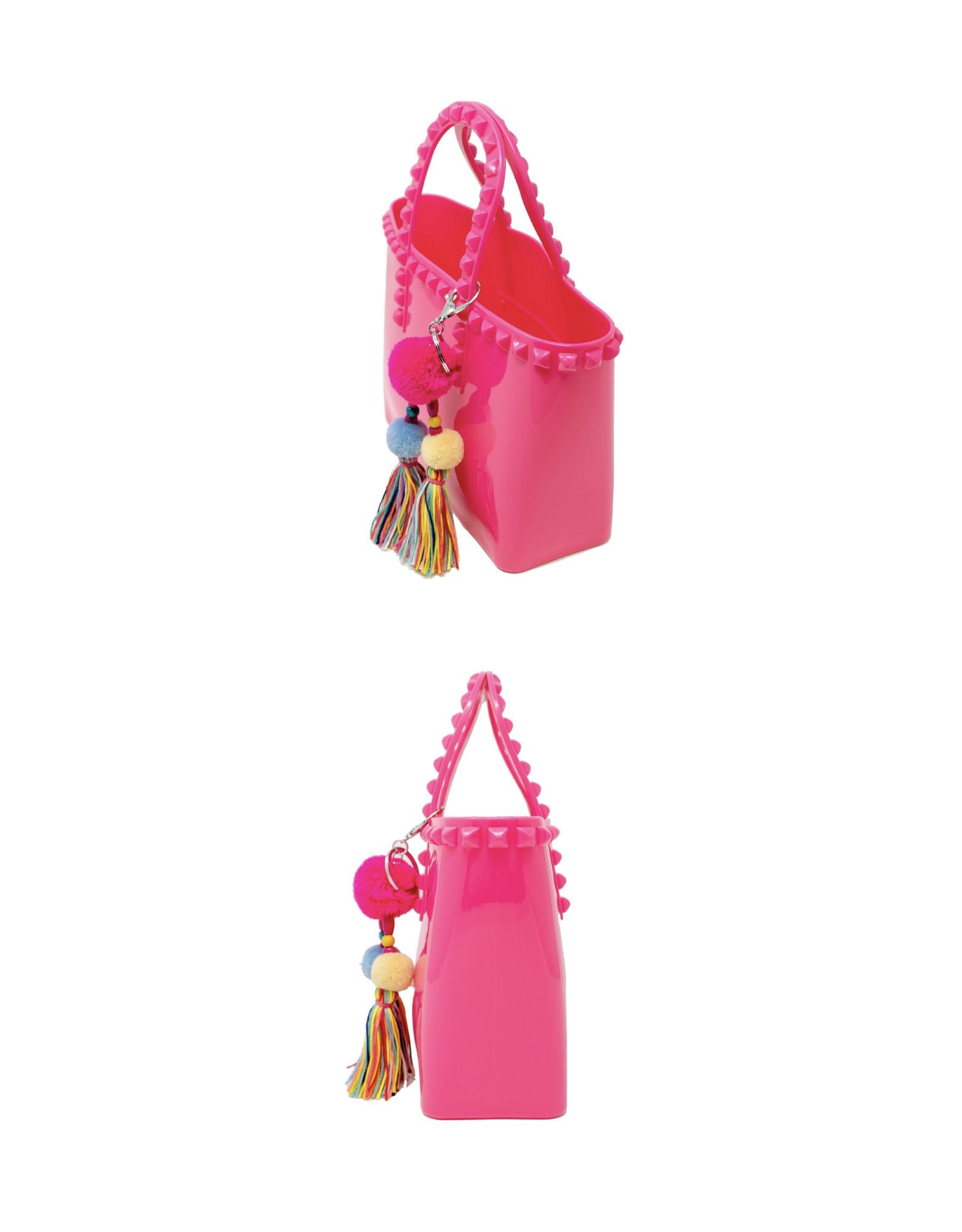 Tiny Treats & Zomi Gems Jumbo Jelly Tote Bag Hot Pink