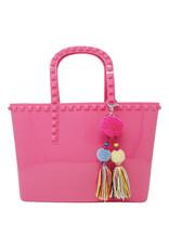Tiny Treats & Zomi Gems Tiny Jelly Tote Bag Hot Pink