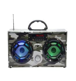 Wireless Express Green Camo Bluetooth Boombox