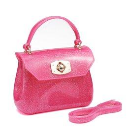 Doe a Dear Fuchsia Glitter Jelly Bag
