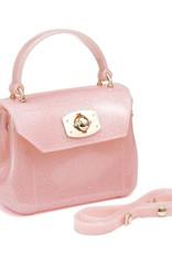 Doe a Dear Pink Glitter Jelly Bag