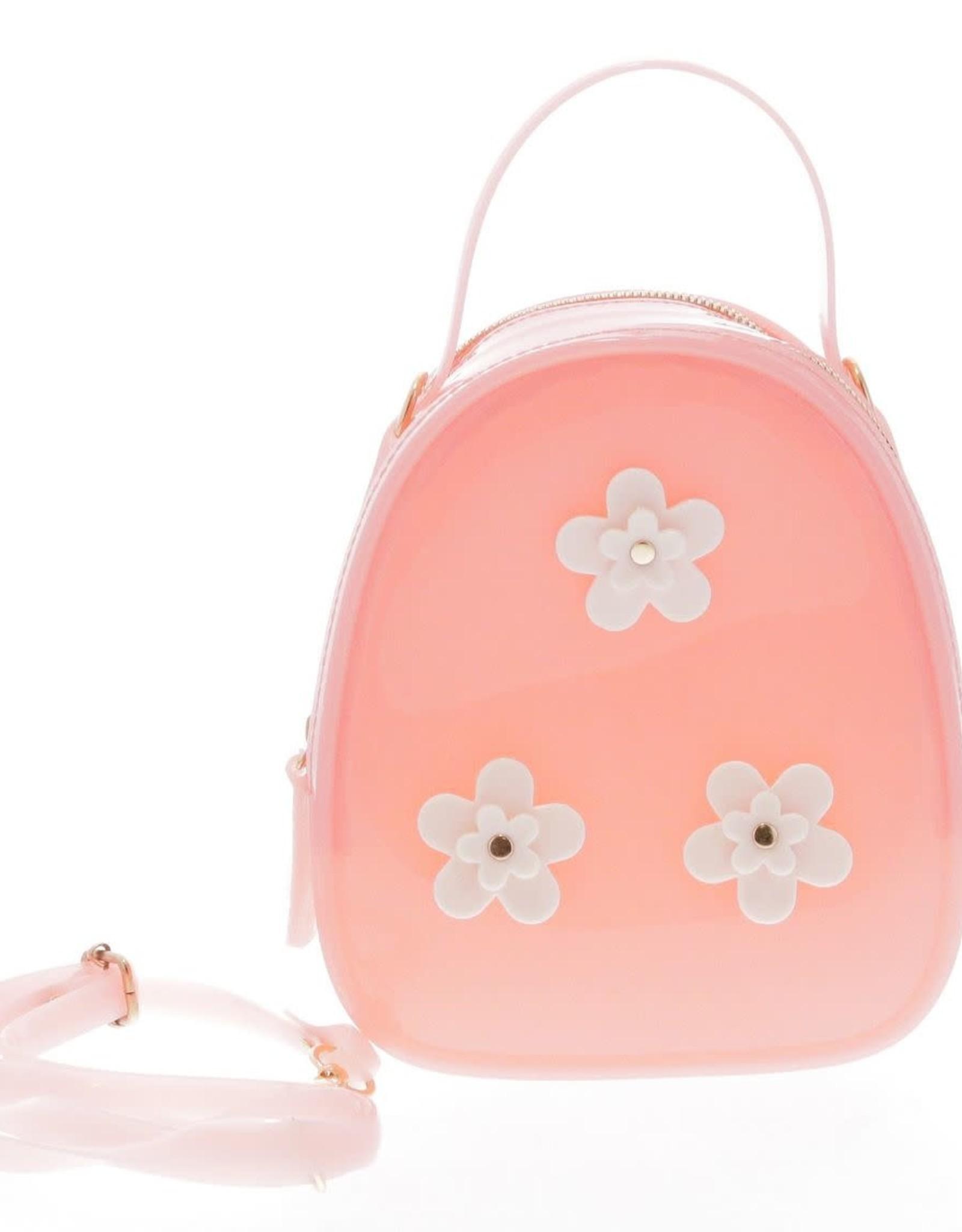 Doe a Dear Pink Floral Jelly Bag