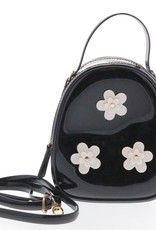 Doe a Dear Black Floral Jelly Bag