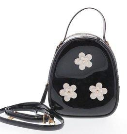 Black Floral Jelly Bag