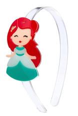 Lillies & Roses Headband Cute Doll w/ Red Hair