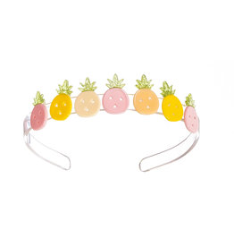 Lillies & Roses Multi Pineapple Pink and Yellow Headband